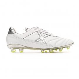 Zapatillas fútbol Munich Mundial 2.0 blanca/gris hombre