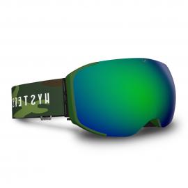 Mascara Hysteresis Freeride verde  lente verde cinta militar