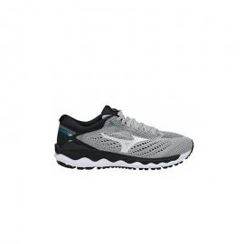 Zapatillas running Mizuno Wave Sky 3 gris/blanco hombre