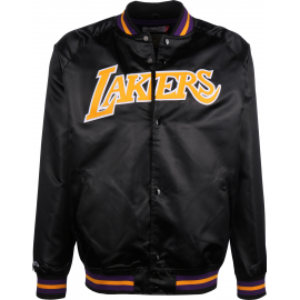 Sudadera Mitchell&Ness Lightweight Satin Lakers negro hombre
