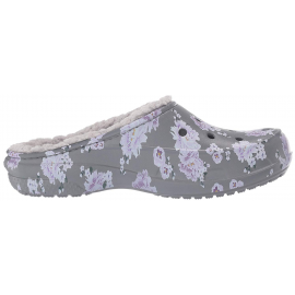 Zuecos Crocs Fresail Printed Lined gris/violetas mujer