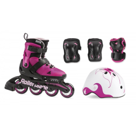 Set Patines Rollerblade Cube G Patines+ protecciones rosa