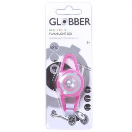 Linterna patinete Globber Led Flash Light rosa