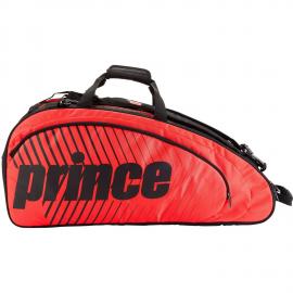 Raquetero Prince Tour Future 6 raquetas negro/rojo