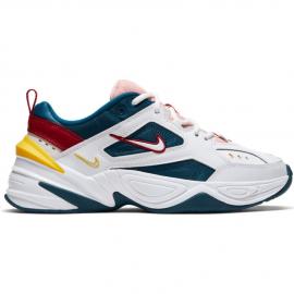 Zapatillas Nike M2K Tekno blanco/azul/amarillo mujer