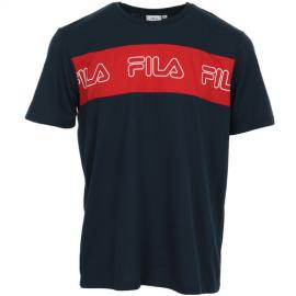 Camiseta Fila Aki Logo azul/rojo hombre