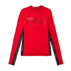Camiseta Fila Atos Long Sleeve rojo/negro hombre
