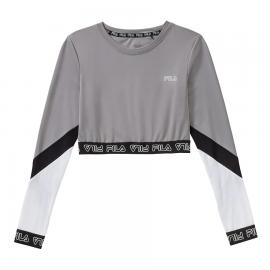 Camiseta Fila Alary Cropped Long Sleeve gris mujer