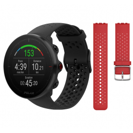 Reloj Gps Polar Vantage M negro  m/l con correa regalo rojo