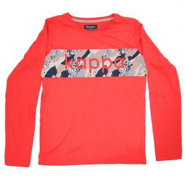 Camiseta Kappa Quastor rojo fluor niña