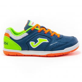 Zapatillas fútbol sala Joma Top Flex 2033 azul/fluor junior
