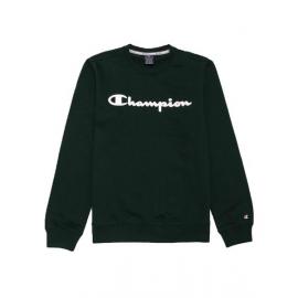 Sudadera Champion 213479 cuello caja verde hombre