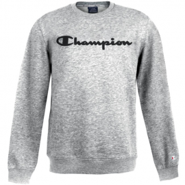 Sudadera Champion 213479 cuello caja gris jaspeado hombre