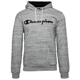 Sudadera Champion 213424 capucha gris jaspeado hombre