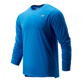 Camiseta running New Balance Accelerate LS azul hombre