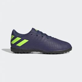 Zapatillas fútbol adidas Nemeziz Messi 19.4 azul/fluor