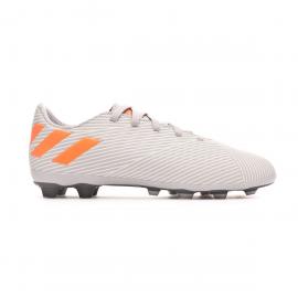 Zapatillas fútbol adidas Nemeziz 19.4 FxG gris/naranja