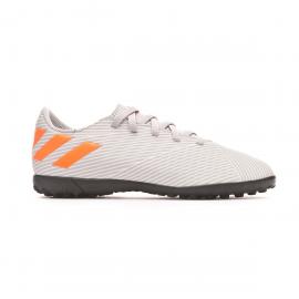Zapatillas fútbol adidas Nemeziz 19.4 TF gris/naranja