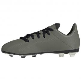 Zapatillas fútbol adidas X19.4 FxG verde/naranja junior