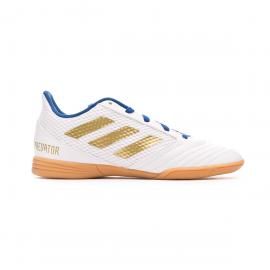 Zapatillas fútbol adidas Predator 19.4 IN blanco/dorado