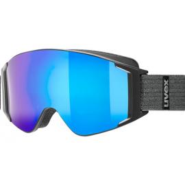 Mascara esquí Uvex G Gl 3000 To negro mate azul espejo