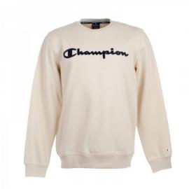 Sudadera Champion 213479 cuello caja beige hombre