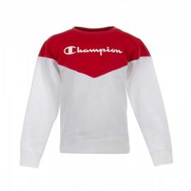 Sudadera Champion cuello caja 403659 rojo/blanco niño