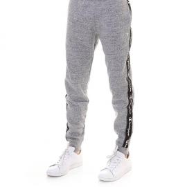 Pantalón Champion puño y cordón 213577 gris jaspeado hombre