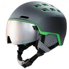 Casco esquí Head Radar gris verde hombre