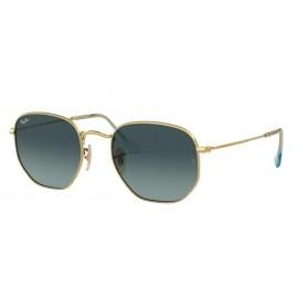Gafas Ray-Ban Rb3548N 91233M 51 Hexagonal oro lente azul