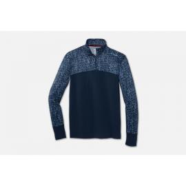 Camiseta running Brooks Dash 1/2 Zip azul hombre