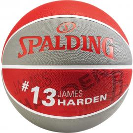 Balón baloncesto Spalding NBA James Harden Rockets gris/rojo