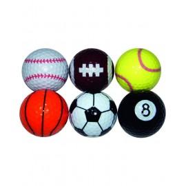 Pack de 6 bolas de golf Sports