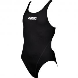 Bañador entrenamiento  Arena G Solid Swim Tech negro niña