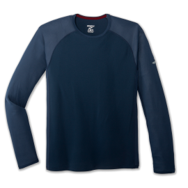 Camiseta running Brooks Stealth Long Sleeve azul hombre