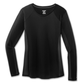 Camiseta running Brooks Stealth Long Sleeve negro mujer