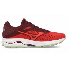Zapatillas running Mizuno Wave Rider 23 coral/burdeos mujer