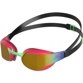 Gafas natación Speedo Fastskin Elite Mirror negro/rosa junio