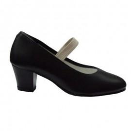 Zapatos de flamenco goma negro