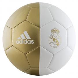 Balón fútbol adidas Real Madrid Capitalino blanco/dorado