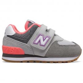 Zapatillas New Balance IV574SOC gris/morado bebé