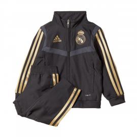 Chándal fútbol adidas Real Madrid 2019/20 negro/dorado niño