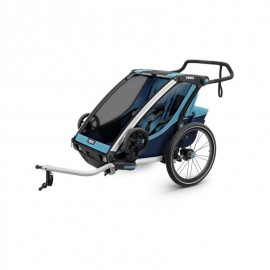 Carrito Thule Chariot Cross 2 + Kit Bicicleta Azul