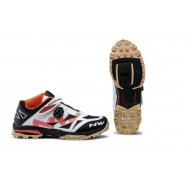 Zapatillas Northwave Enduro Mid blanco-naranja MTB-AM