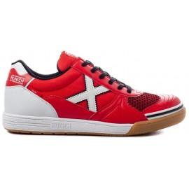 Zapatillas fútbol Munich G-3 indoor 68 rojo/blanco hombre