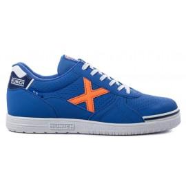 Zapatillas fútbol Munich G-3 Profit 92 azul/naranja hombre