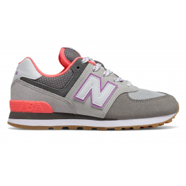 Zapatillas New Balance PC574SOC gris/morado niña