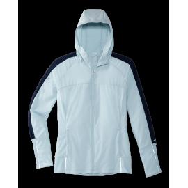 Cortavientos running Canopy Jacket celeste mujer