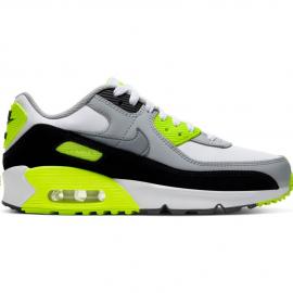 Zapatillas Nike Air Max 90 LTR blanco/gris/lima junior