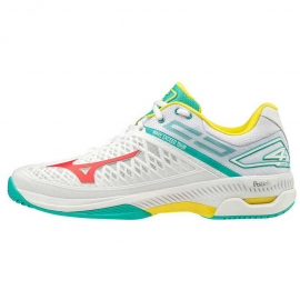 Zapatillas tenis Mizuno Wave Exceed Tour 4 AC blanco/verde